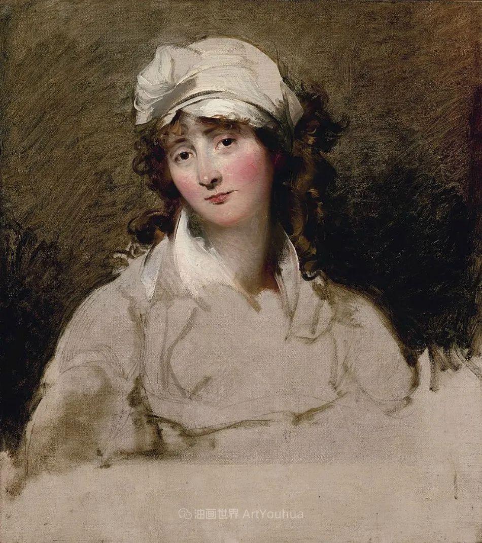 两百年前华丽风格的女性肖像,奔放的笔触、明亮的色彩!插图81