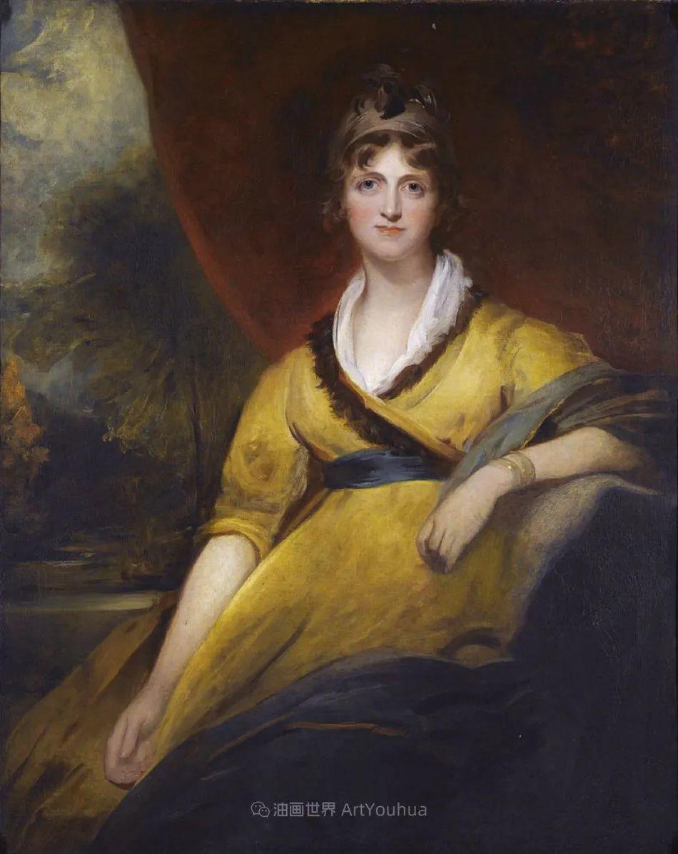 两百年前华丽风格的女性肖像,奔放的笔触、明亮的色彩!插图83
