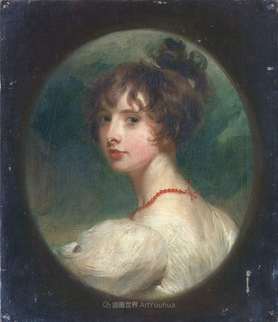 两百年前华丽风格的女性肖像,奔放的笔触、明亮的色彩!插图85