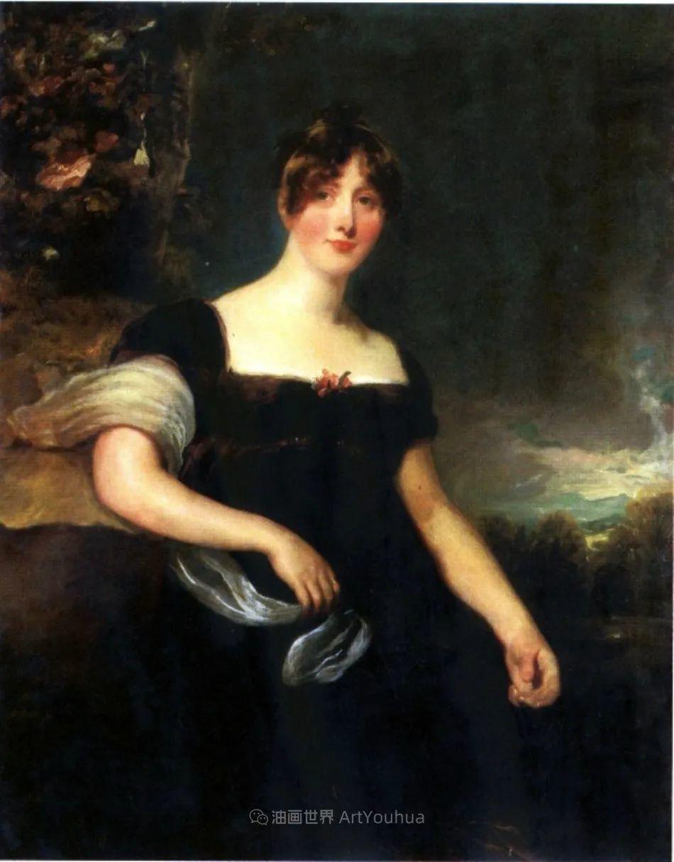 两百年前华丽风格的女性肖像,奔放的笔触、明亮的色彩!插图87