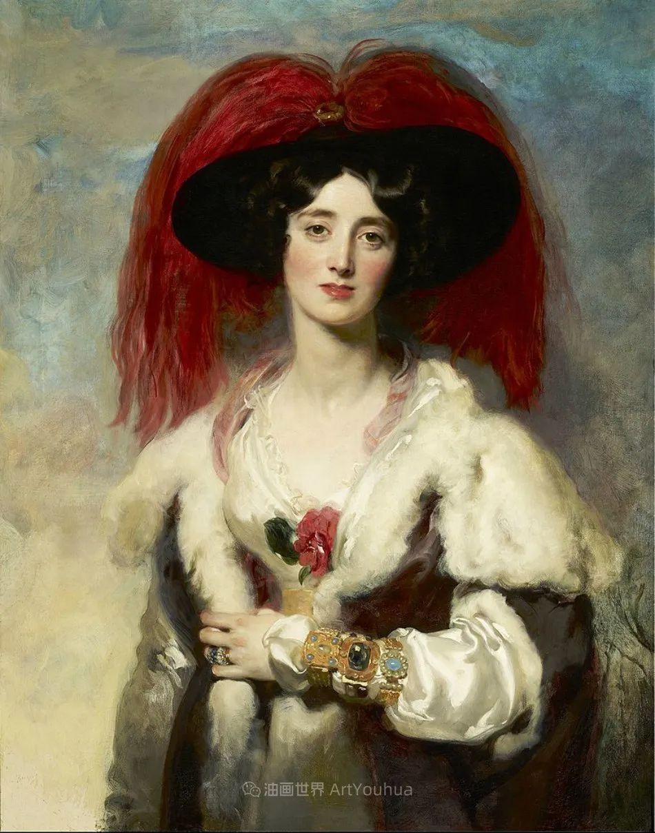 两百年前华丽风格的女性肖像,奔放的笔触、明亮的色彩!插图91
