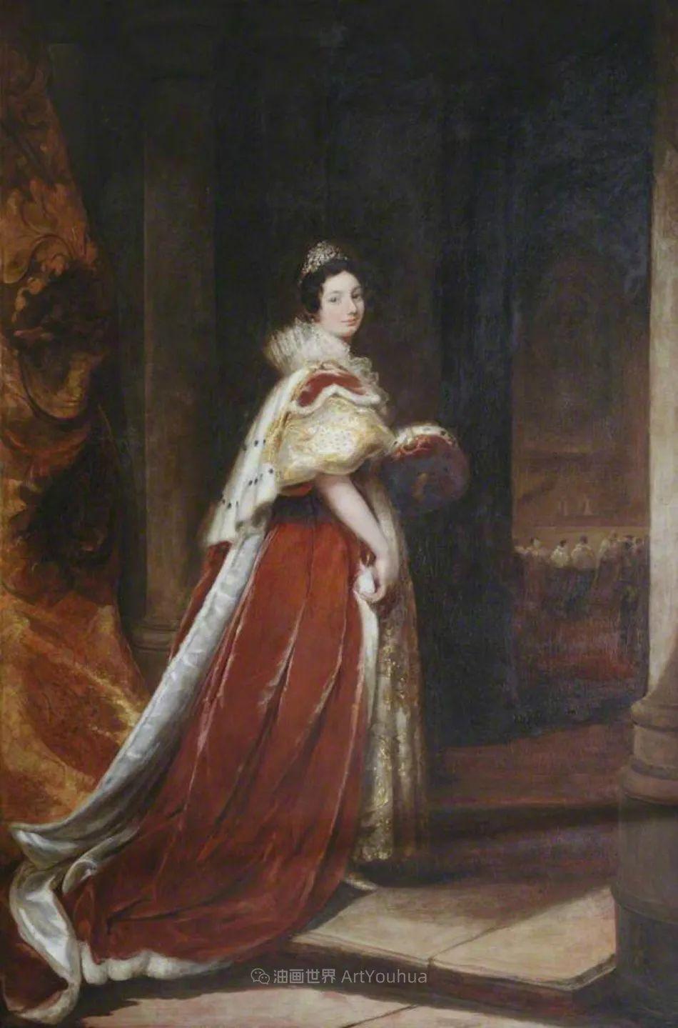 两百年前华丽风格的女性肖像,奔放的笔触、明亮的色彩!插图93