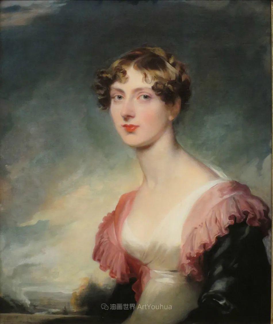 两百年前华丽风格的女性肖像,奔放的笔触、明亮的色彩!插图95