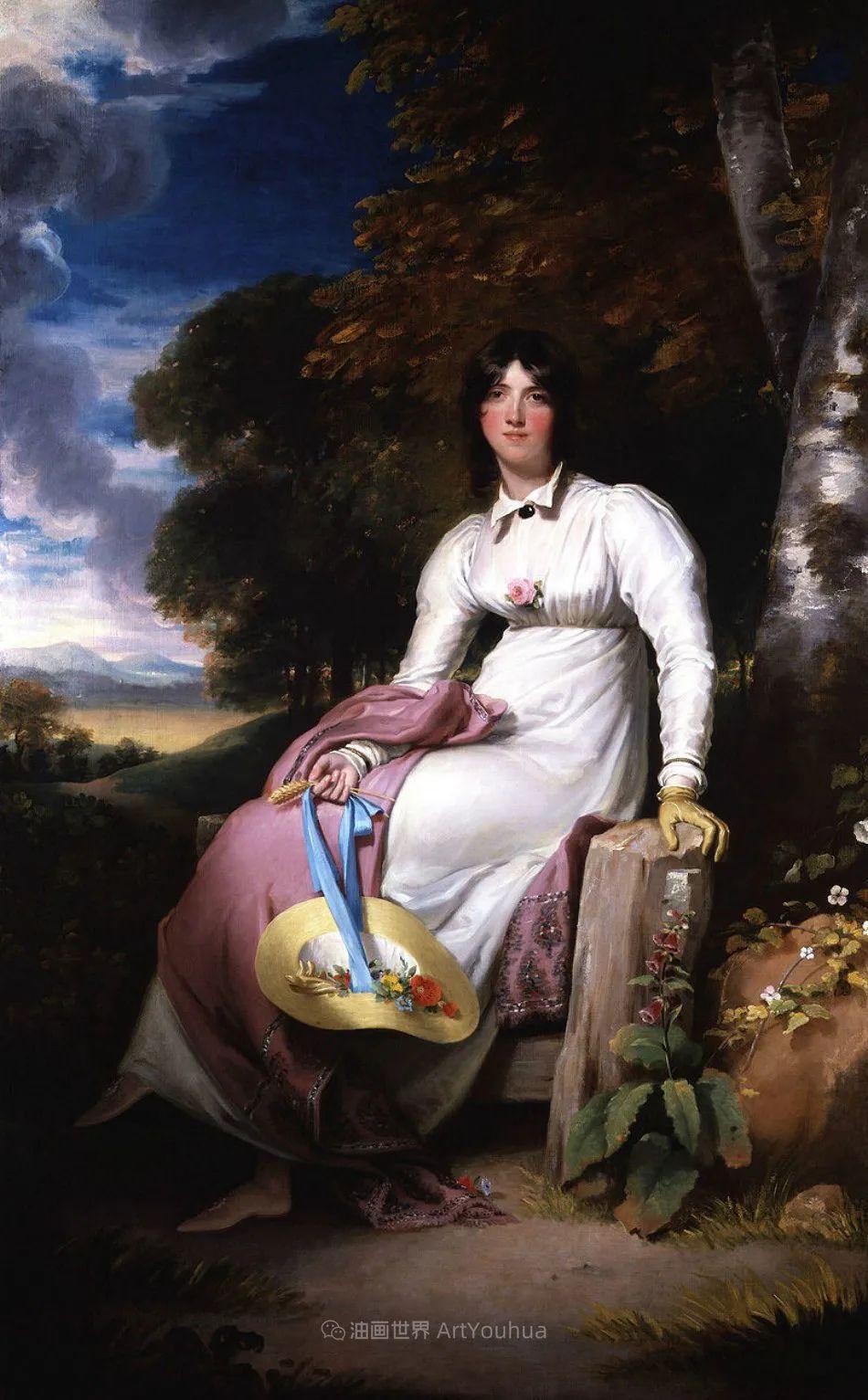 两百年前华丽风格的女性肖像,奔放的笔触、明亮的色彩!插图97