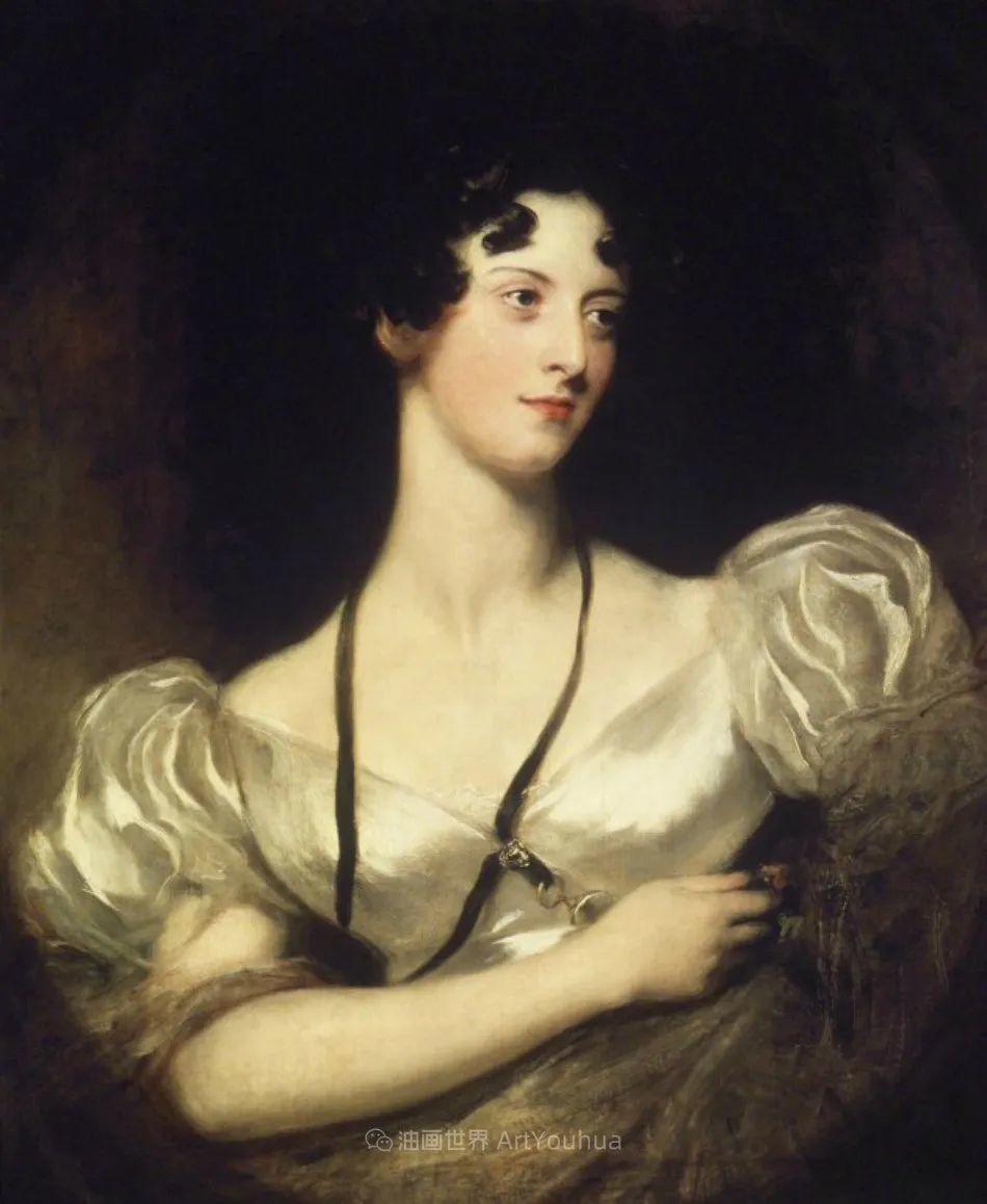 两百年前华丽风格的女性肖像,奔放的笔触、明亮的色彩!插图99