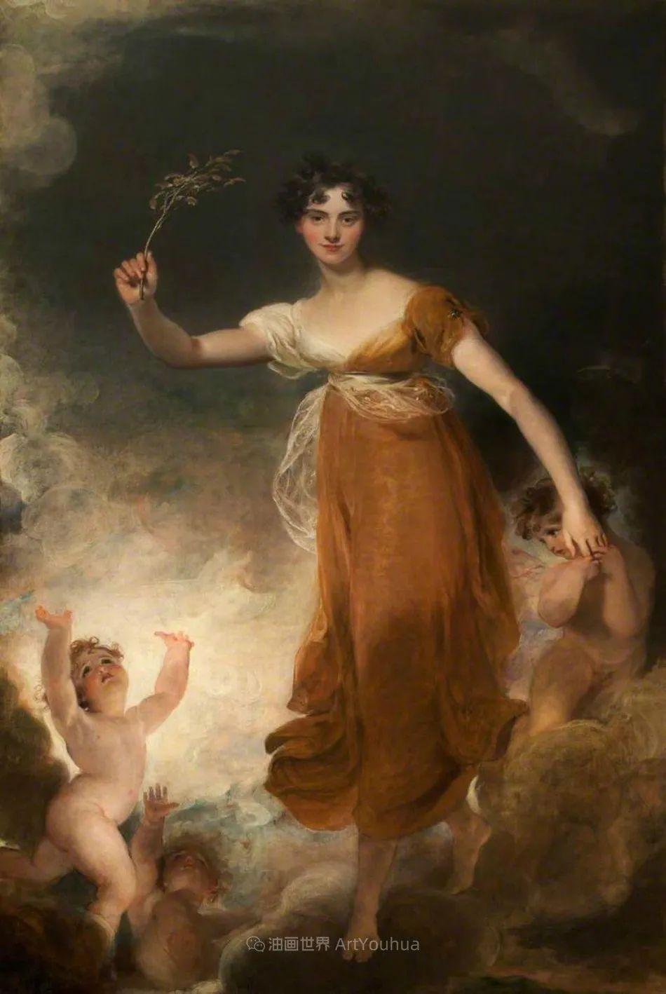 两百年前华丽风格的女性肖像,奔放的笔触、明亮的色彩!插图101