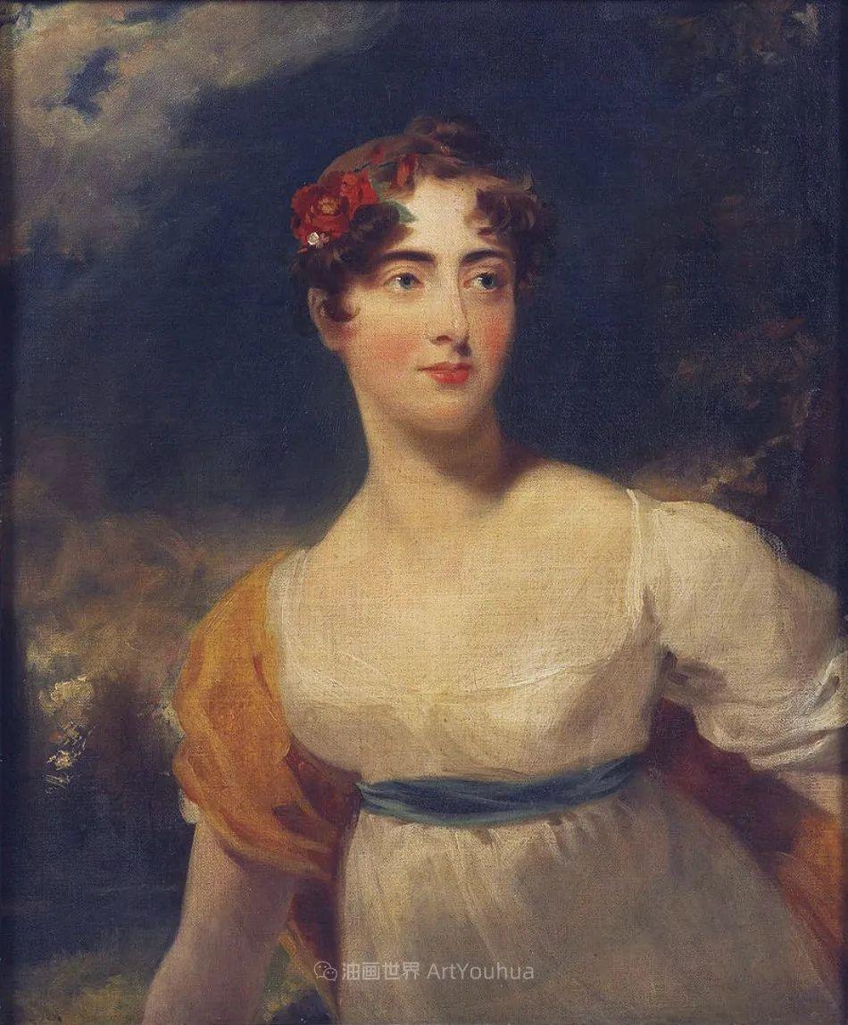 两百年前华丽风格的女性肖像,奔放的笔触、明亮的色彩!插图103