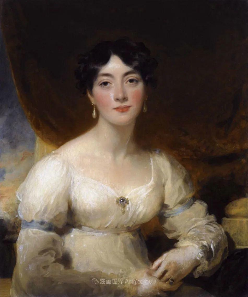 两百年前华丽风格的女性肖像,奔放的笔触、明亮的色彩!插图105