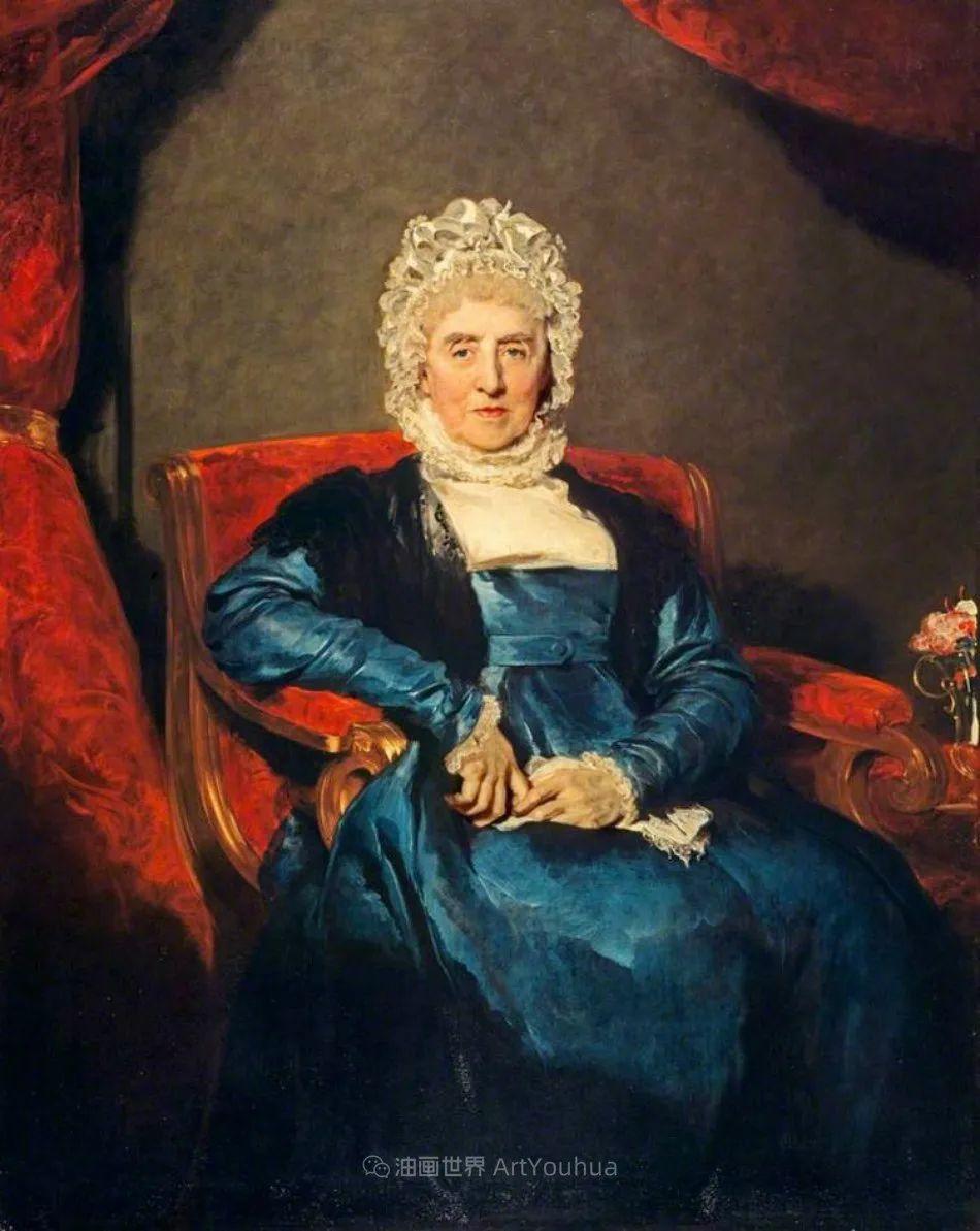 两百年前华丽风格的女性肖像,奔放的笔触、明亮的色彩!插图107