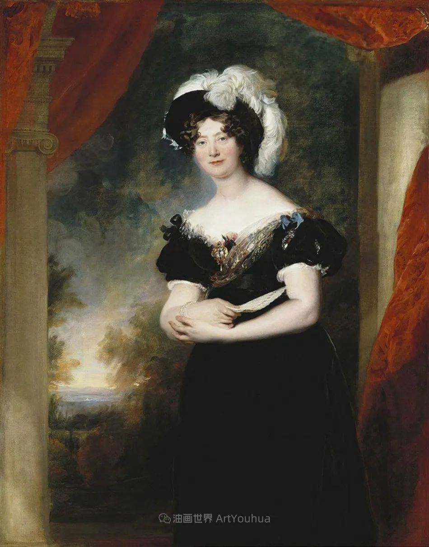 两百年前华丽风格的女性肖像,奔放的笔触、明亮的色彩!插图109