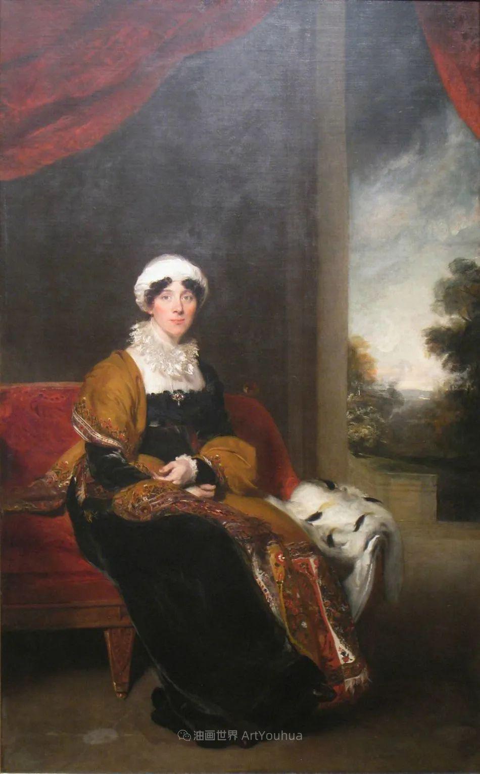 两百年前华丽风格的女性肖像,奔放的笔触、明亮的色彩!插图111