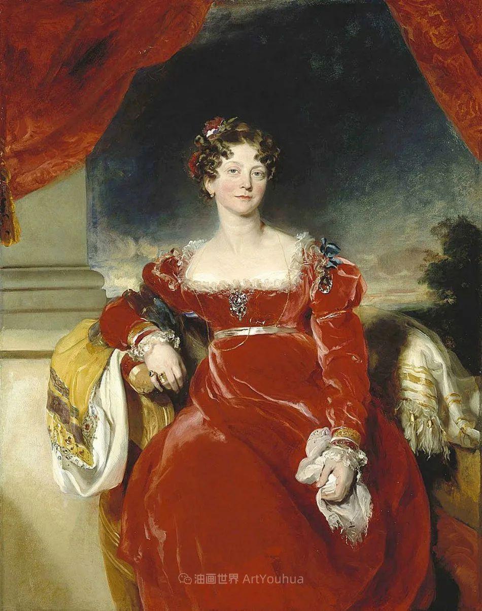 两百年前华丽风格的女性肖像,奔放的笔触、明亮的色彩!插图113