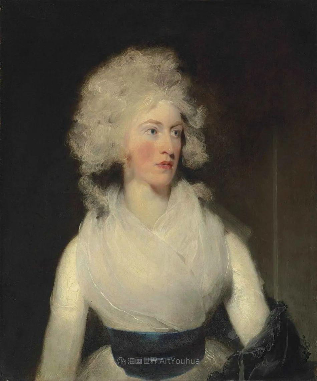 两百年前华丽风格的女性肖像,奔放的笔触、明亮的色彩!插图117