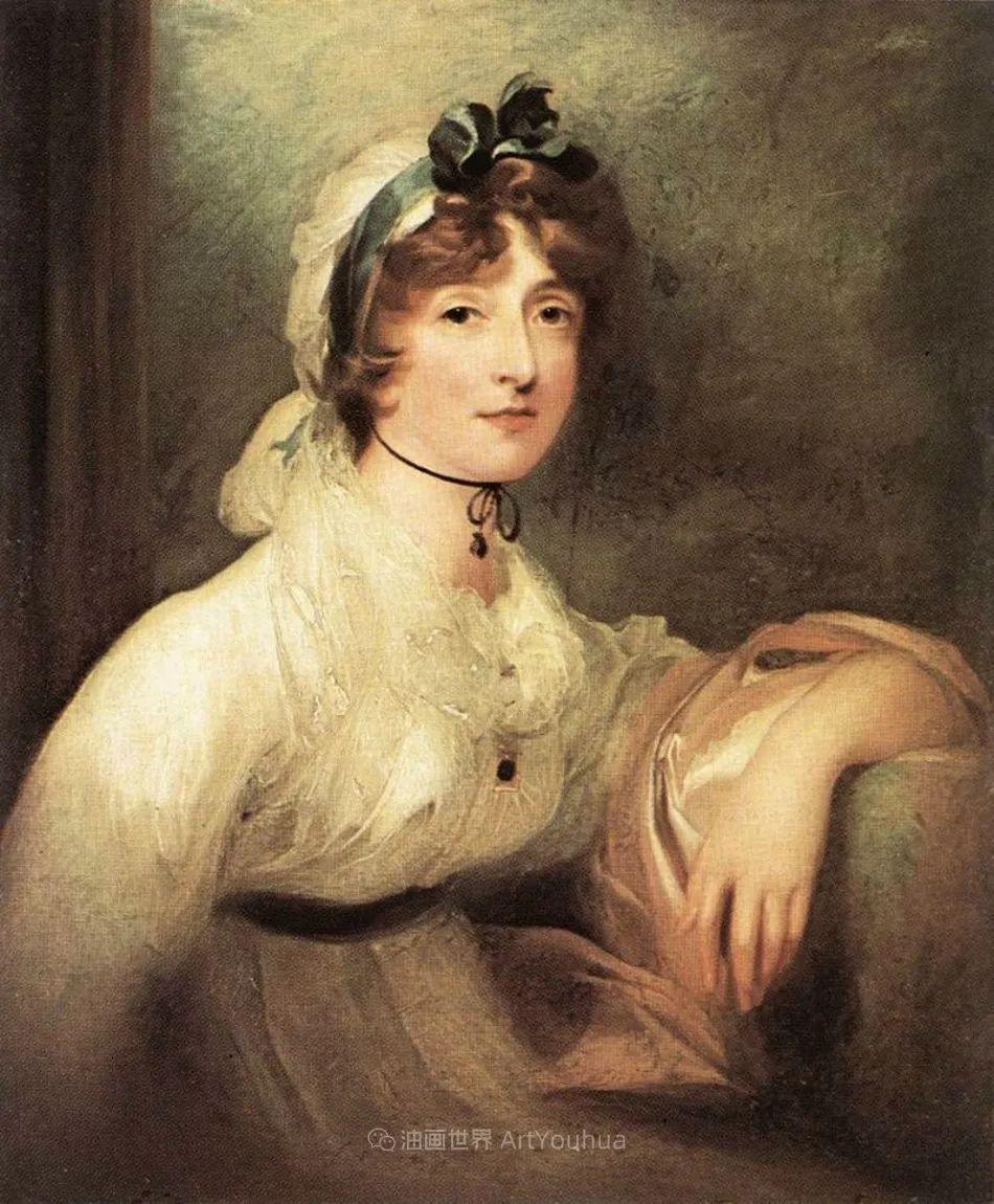 两百年前华丽风格的女性肖像,奔放的笔触、明亮的色彩!插图119