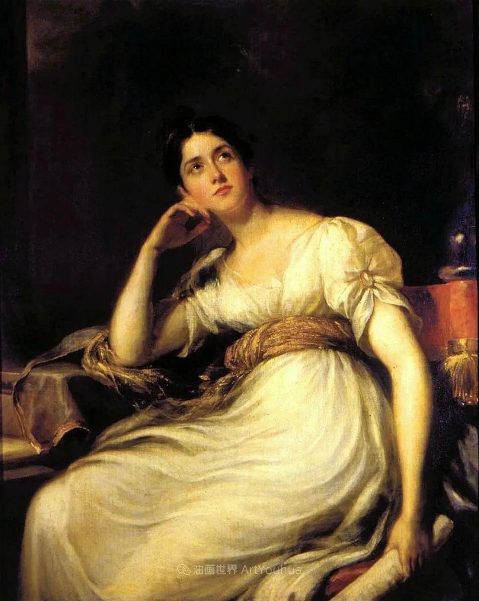 两百年前华丽风格的女性肖像,奔放的笔触、明亮的色彩!插图123