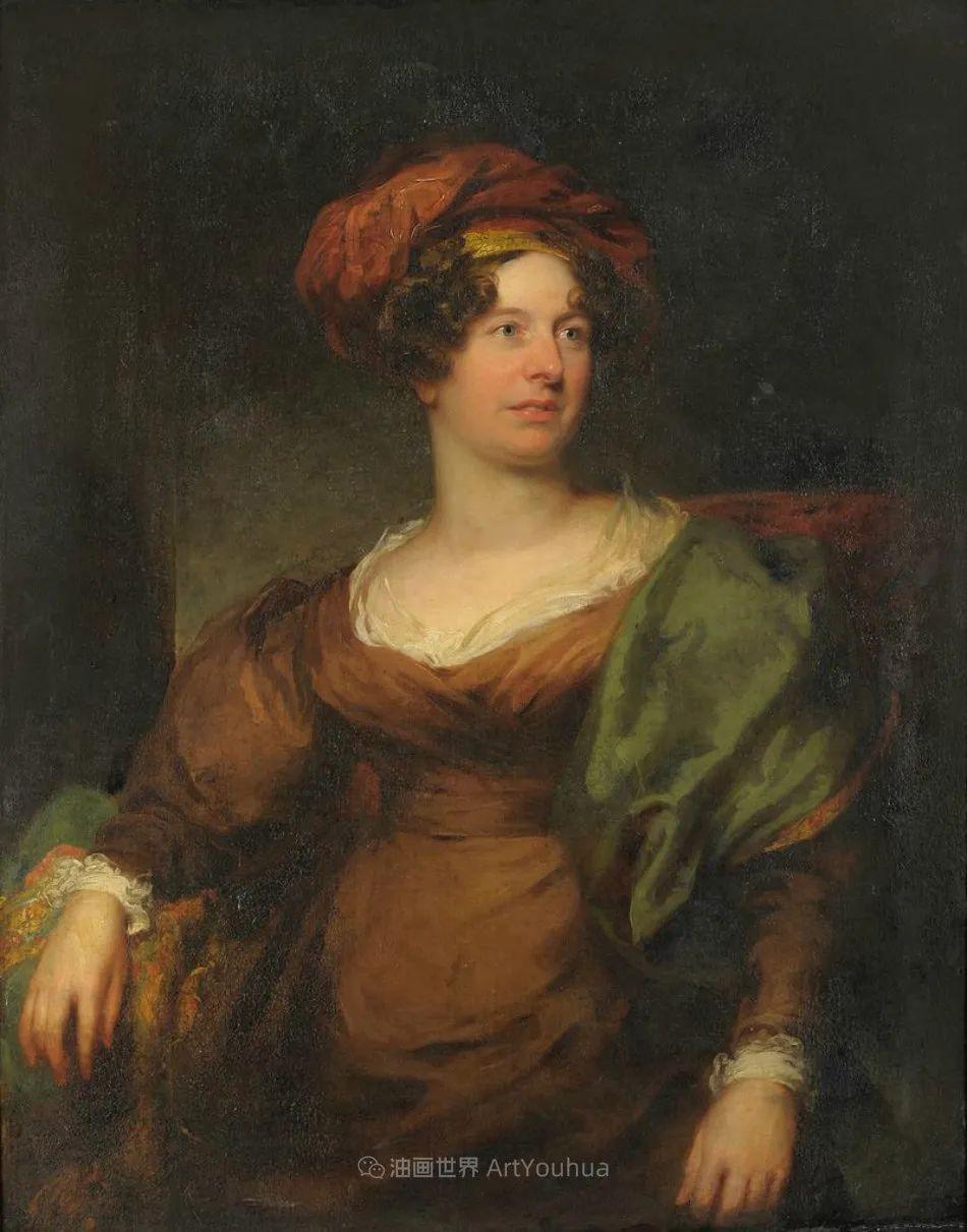两百年前华丽风格的女性肖像,奔放的笔触、明亮的色彩!插图125