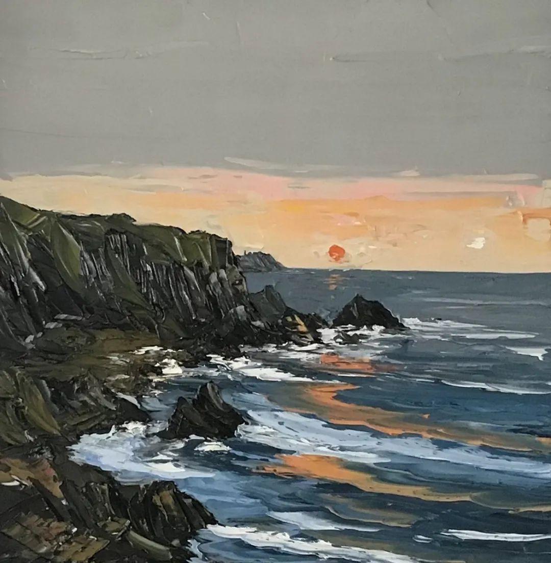纹理丰富,色调柔和的刀画,英国画家马丁·卢埃林插图7