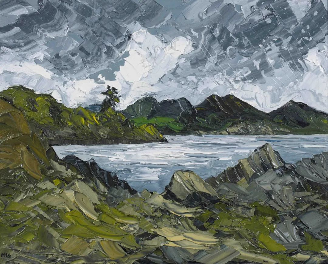 纹理丰富,色调柔和的刀画,英国画家马丁·卢埃林插图13