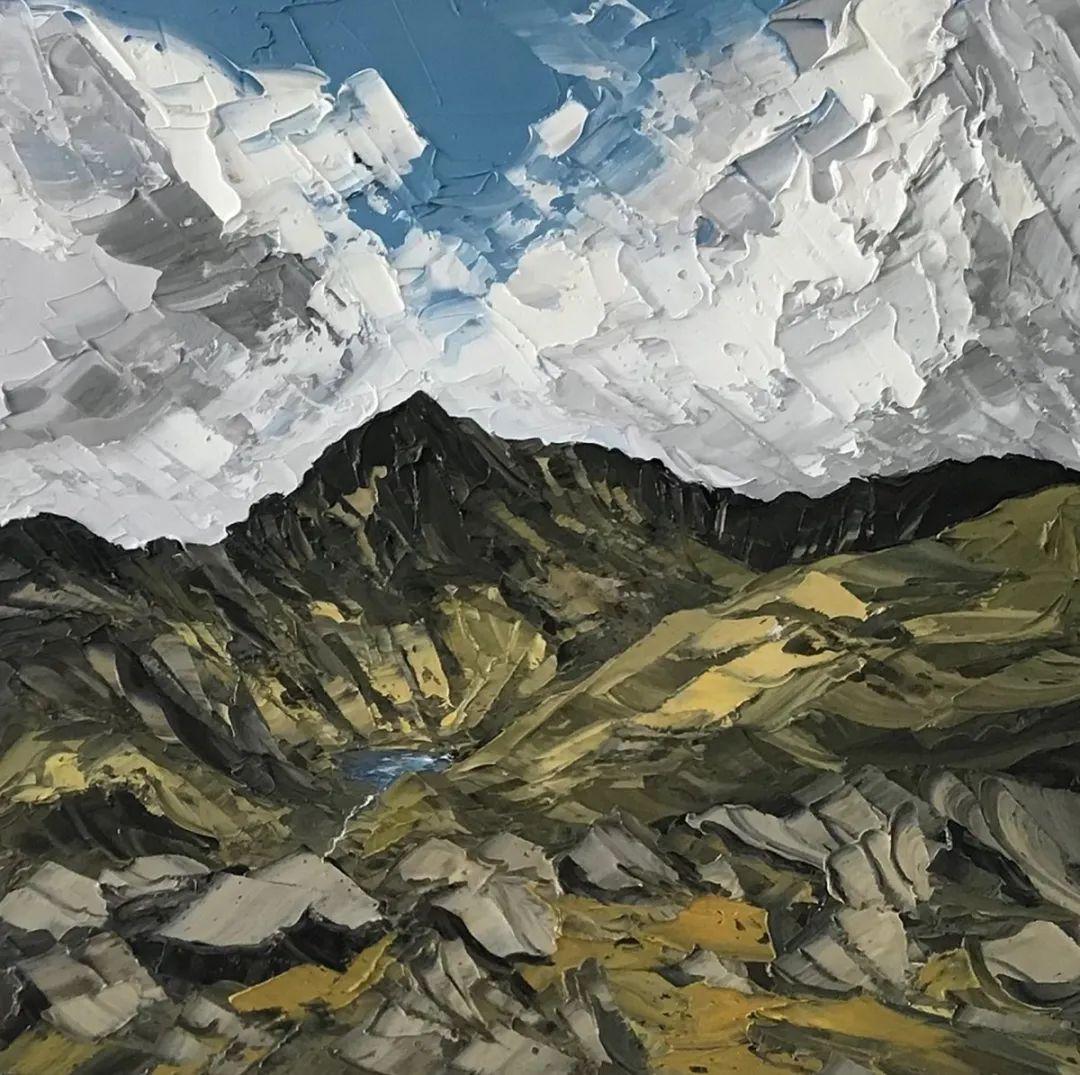 纹理丰富,色调柔和的刀画,英国画家马丁·卢埃林插图25