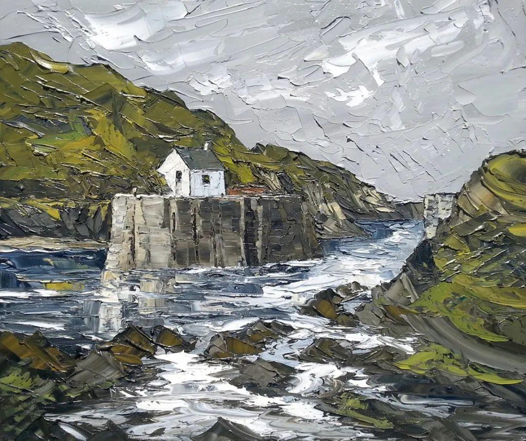 纹理丰富,色调柔和的刀画,英国画家马丁·卢埃林插图37