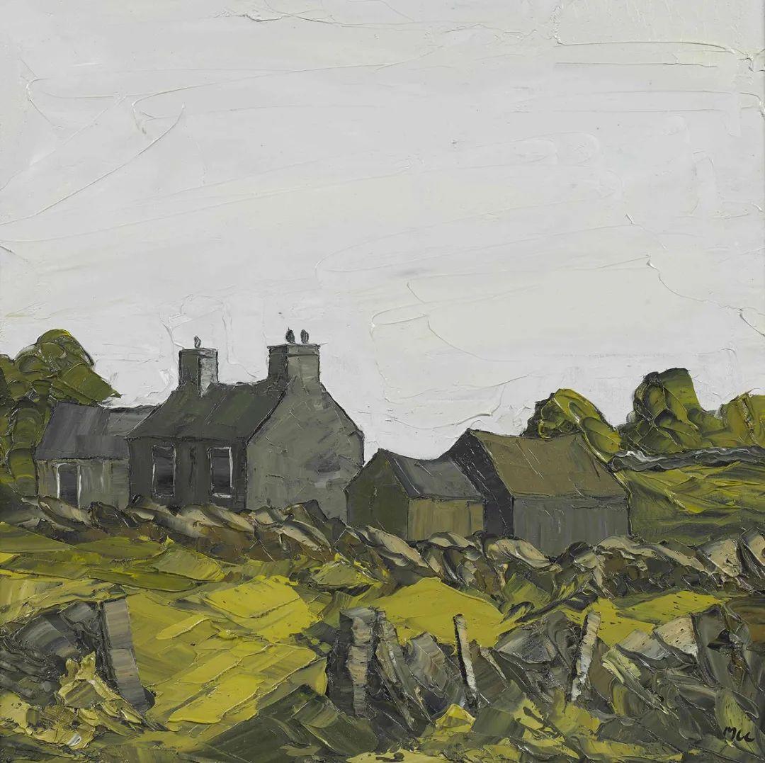纹理丰富,色调柔和的刀画,英国画家马丁·卢埃林插图39