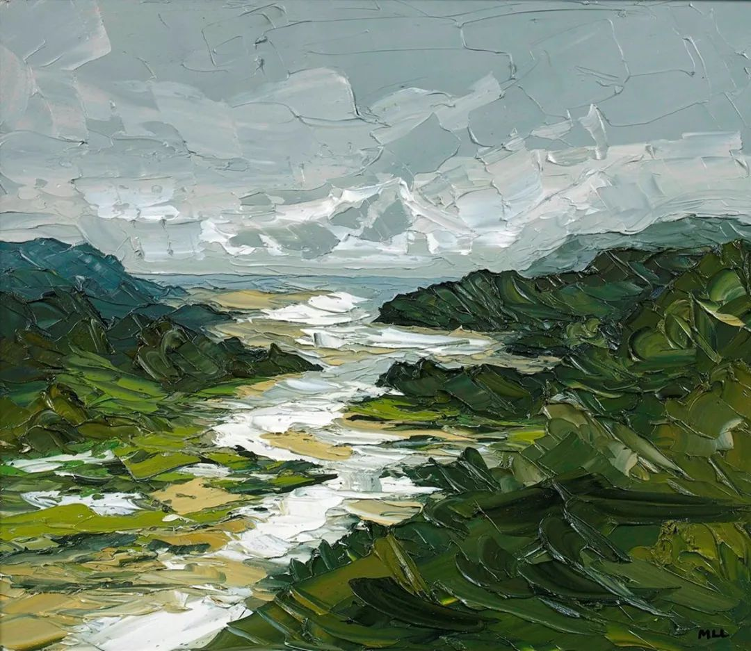 纹理丰富,色调柔和的刀画,英国画家马丁·卢埃林插图41