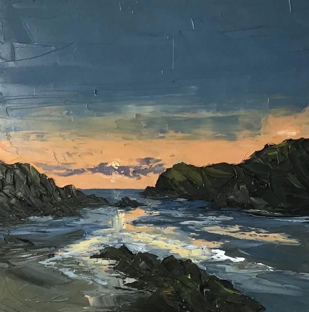 纹理丰富,色调柔和的刀画,英国画家马丁·卢埃林插图45