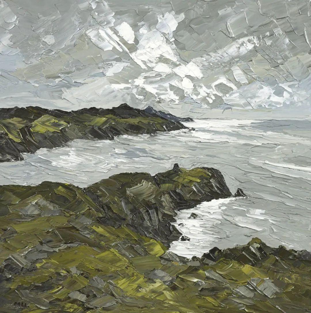 纹理丰富,色调柔和的刀画,英国画家马丁·卢埃林插图49