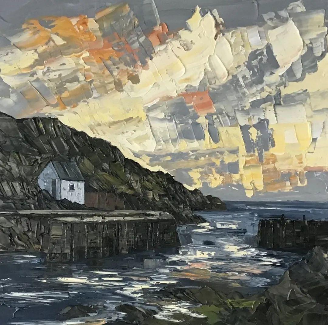 纹理丰富,色调柔和的刀画,英国画家马丁·卢埃林插图59