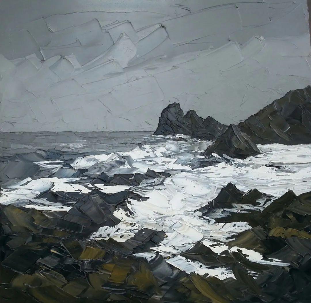 纹理丰富,色调柔和的刀画,英国画家马丁·卢埃林插图61