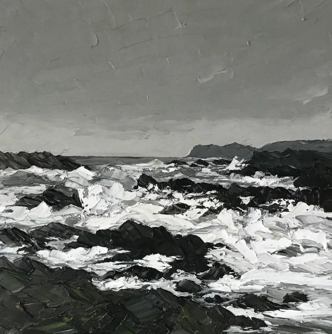 纹理丰富,色调柔和的刀画,英国画家马丁·卢埃林插图63