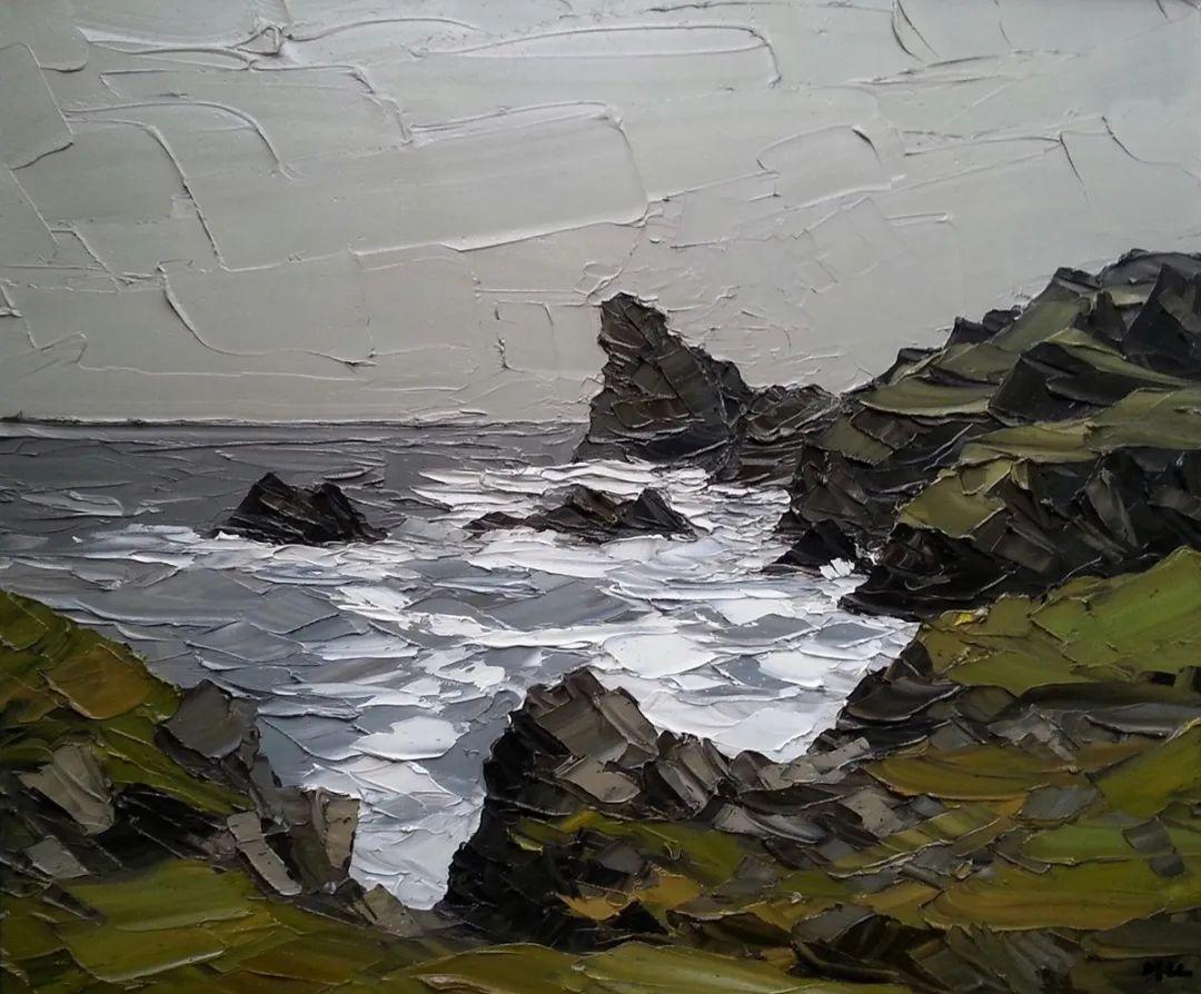 纹理丰富,色调柔和的刀画,英国画家马丁·卢埃林插图69