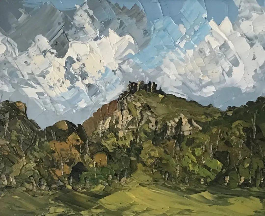纹理丰富,色调柔和的刀画,英国画家马丁·卢埃林插图73