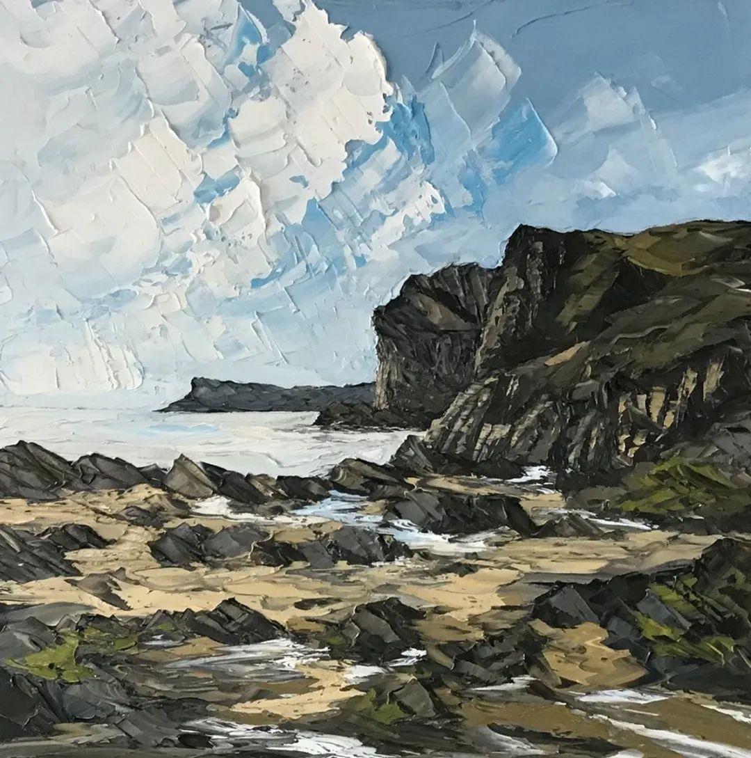 纹理丰富,色调柔和的刀画,英国画家马丁·卢埃林插图79