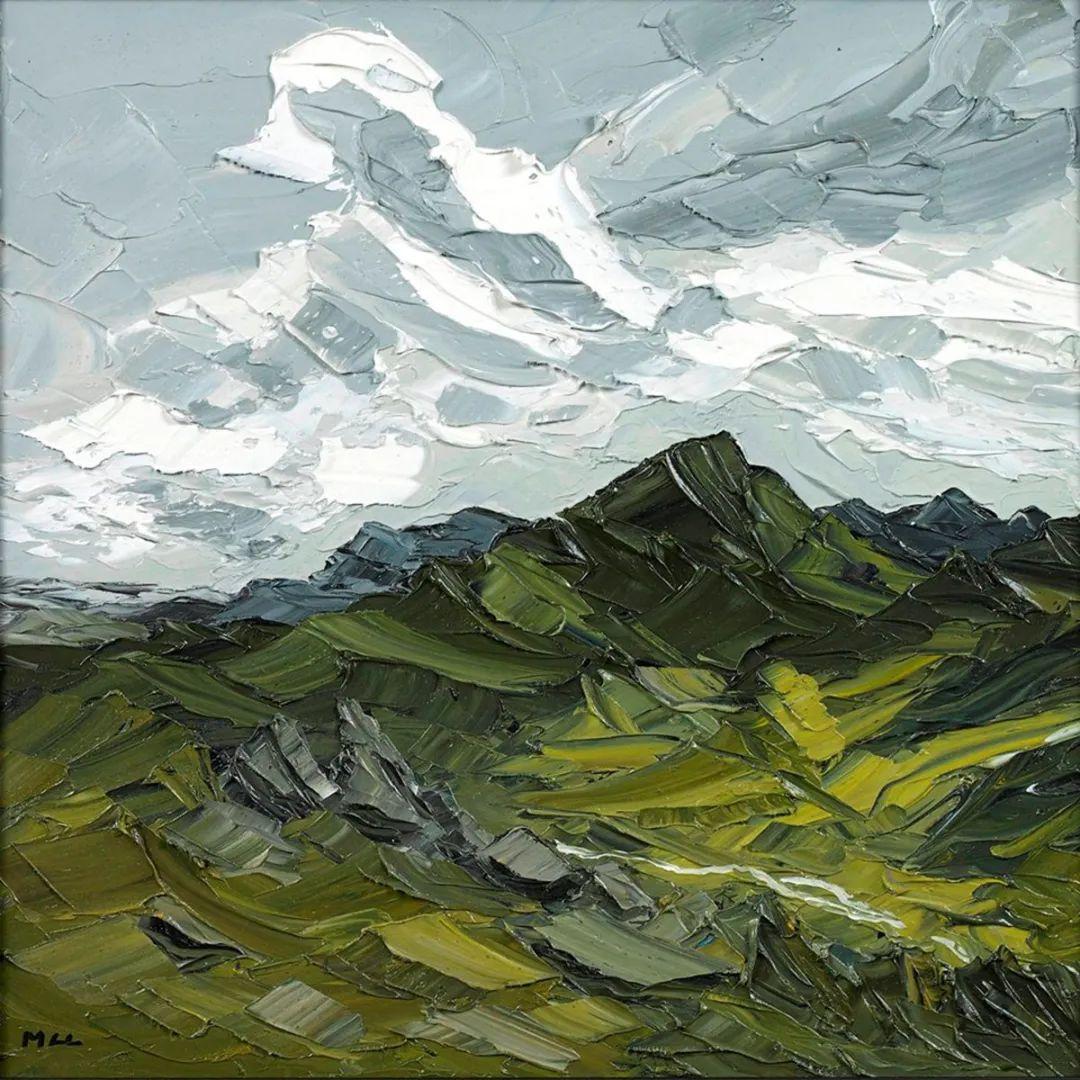 纹理丰富,色调柔和的刀画,英国画家马丁·卢埃林插图83
