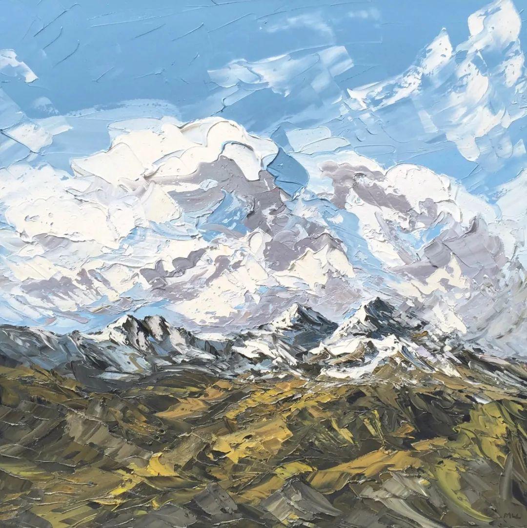 纹理丰富,色调柔和的刀画,英国画家马丁·卢埃林插图91
