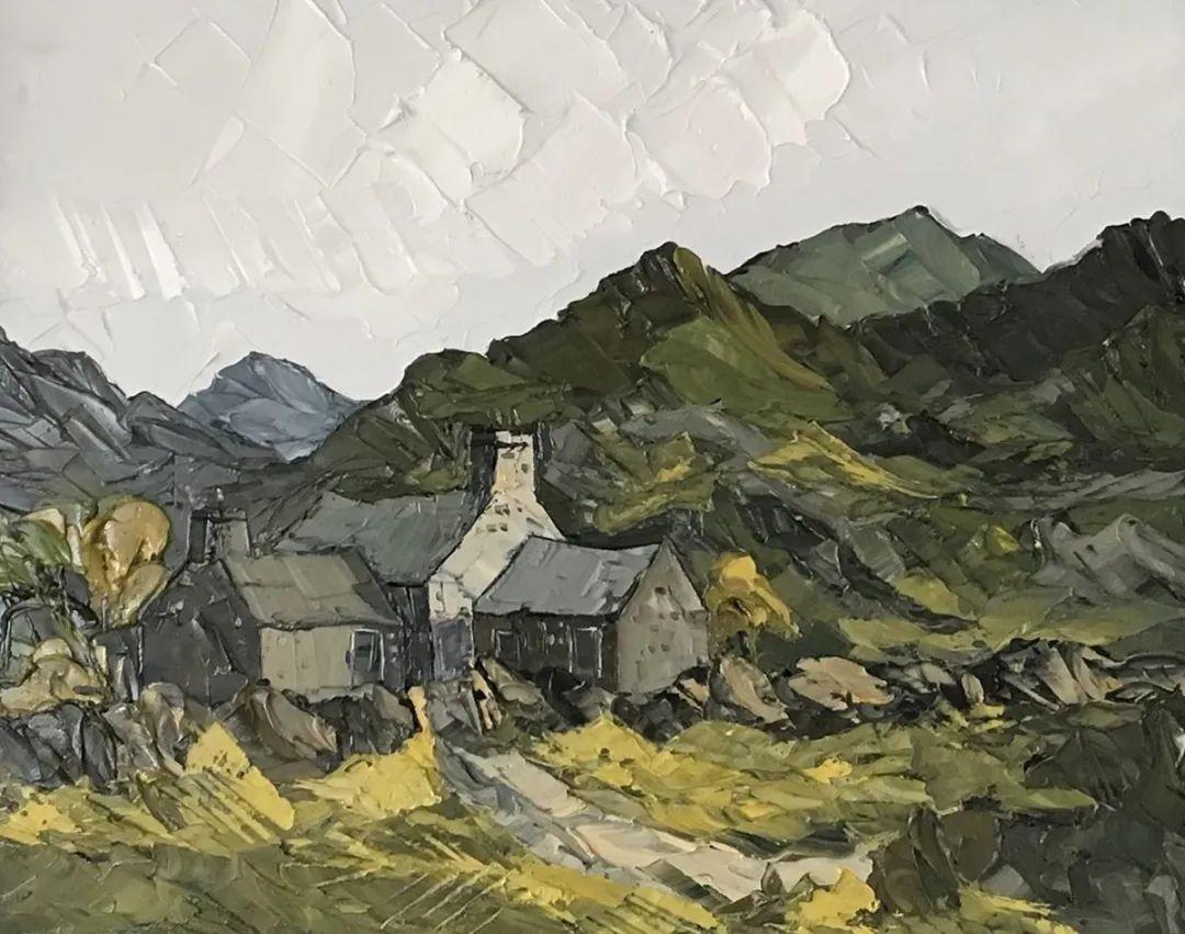 纹理丰富,色调柔和的刀画,英国画家马丁·卢埃林插图93