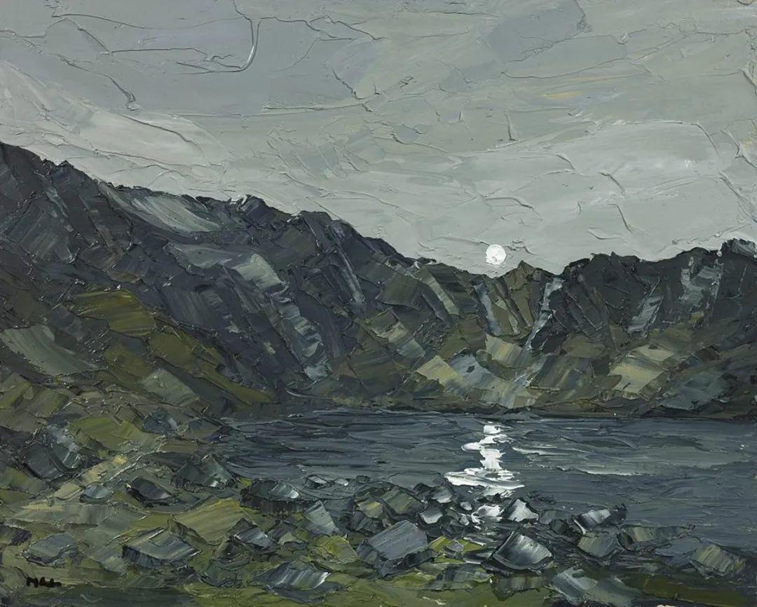 纹理丰富,色调柔和的刀画,英国画家马丁·卢埃林插图95
