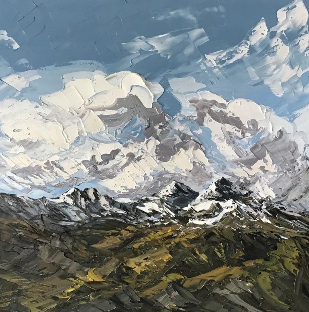 纹理丰富,色调柔和的刀画,英国画家马丁·卢埃林插图99