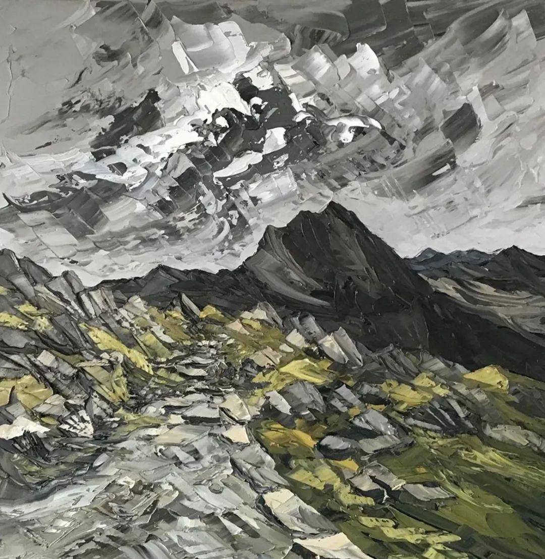 纹理丰富,色调柔和的刀画,英国画家马丁·卢埃林插图103