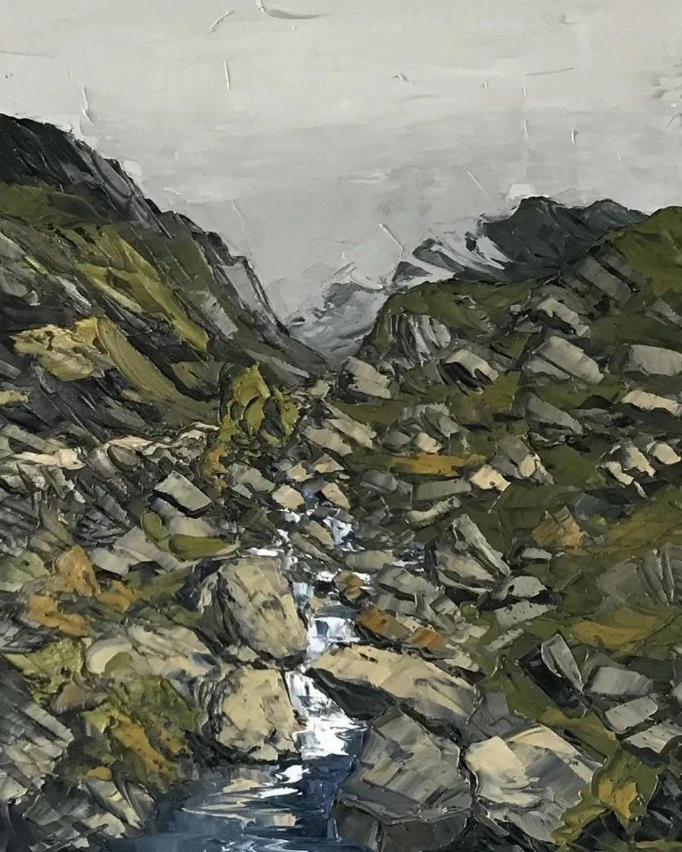 纹理丰富,色调柔和的刀画,英国画家马丁·卢埃林插图107