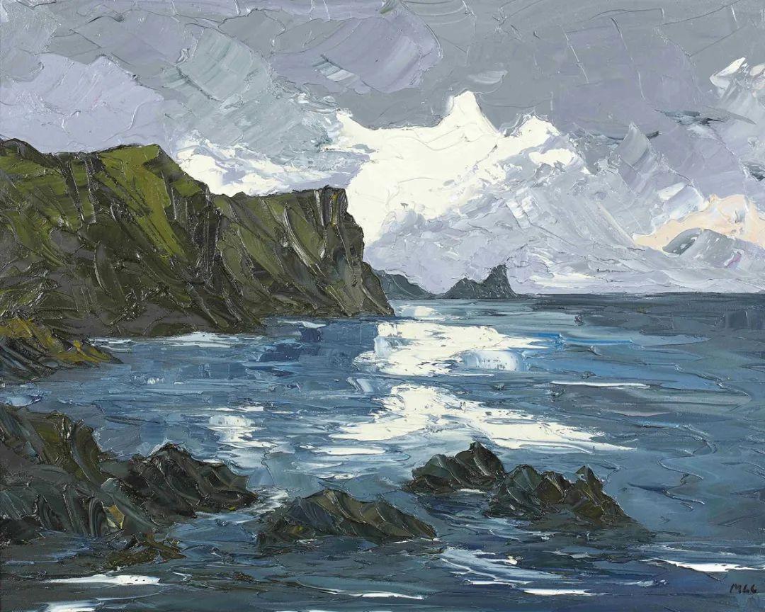 纹理丰富,色调柔和的刀画,英国画家马丁·卢埃林插图111