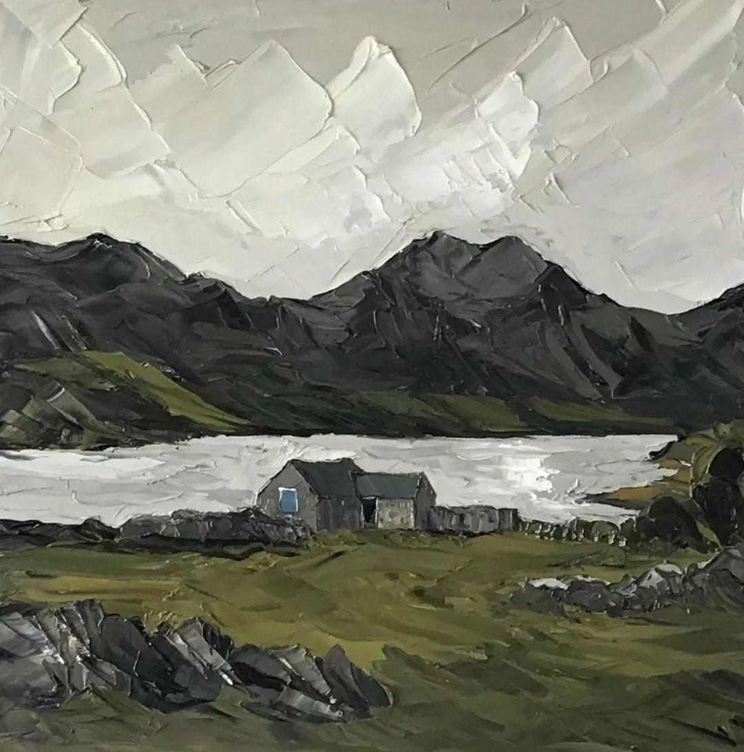 纹理丰富,色调柔和的刀画,英国画家马丁·卢埃林插图113