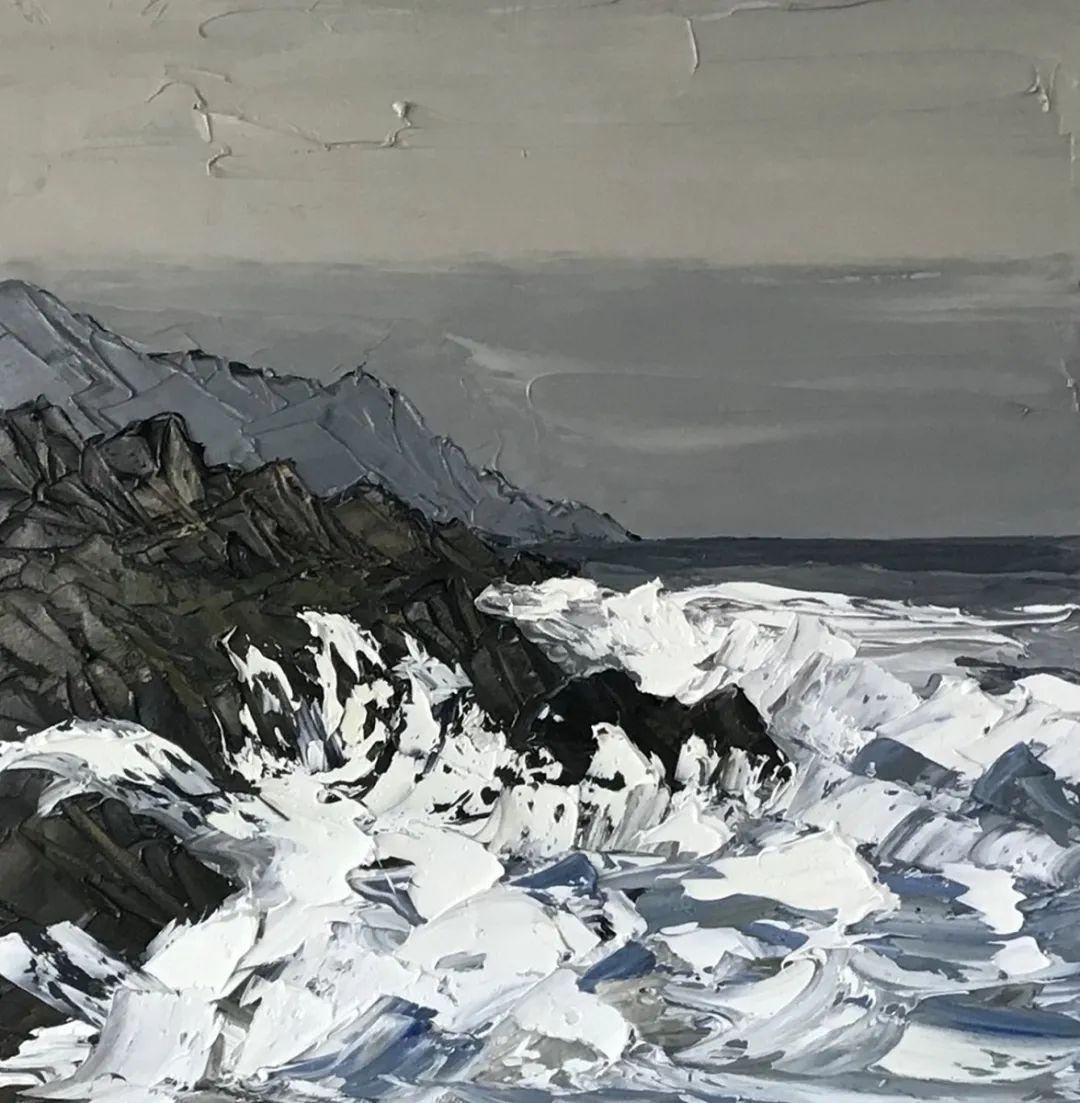 纹理丰富,色调柔和的刀画,英国画家马丁·卢埃林插图115