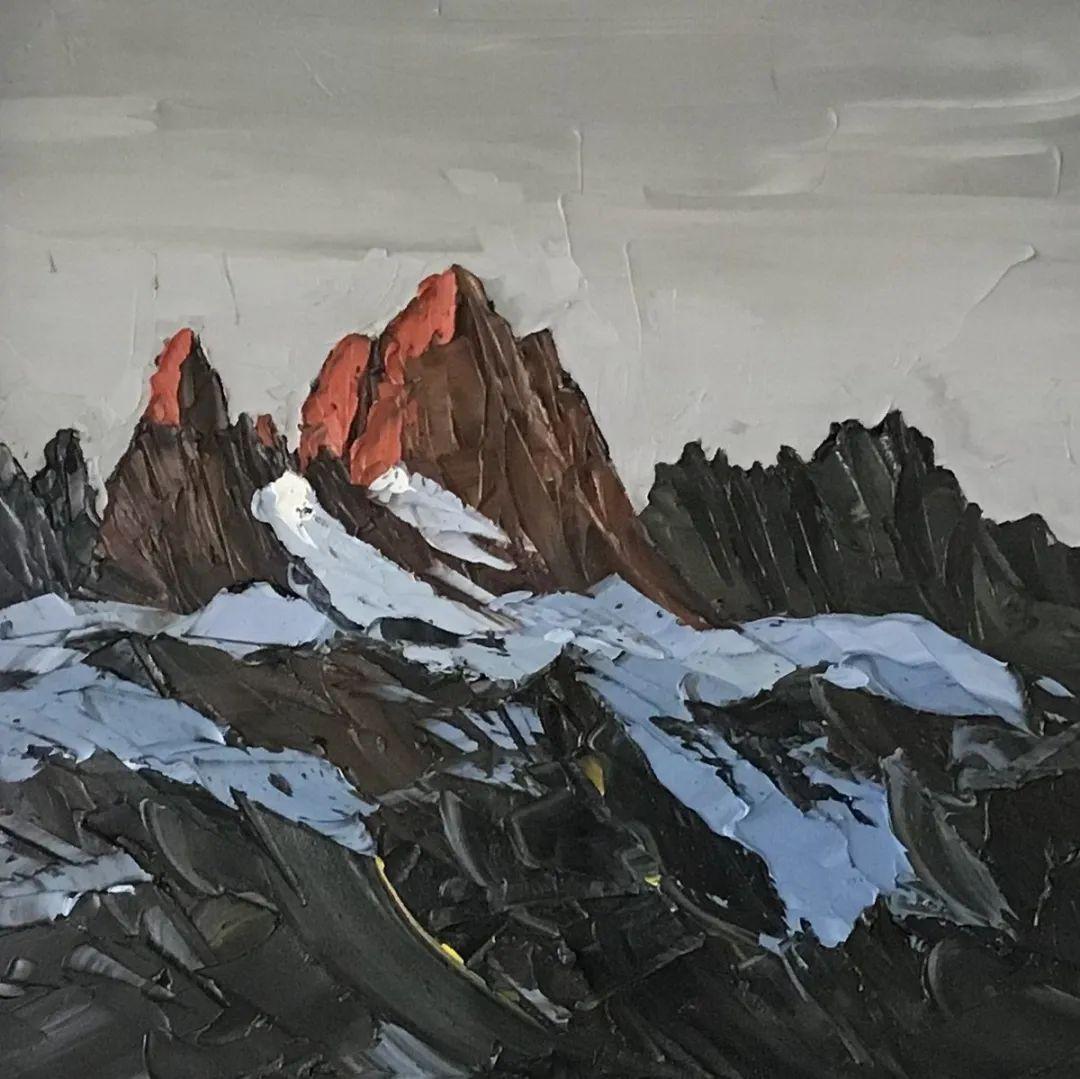 纹理丰富,色调柔和的刀画,英国画家马丁·卢埃林插图117