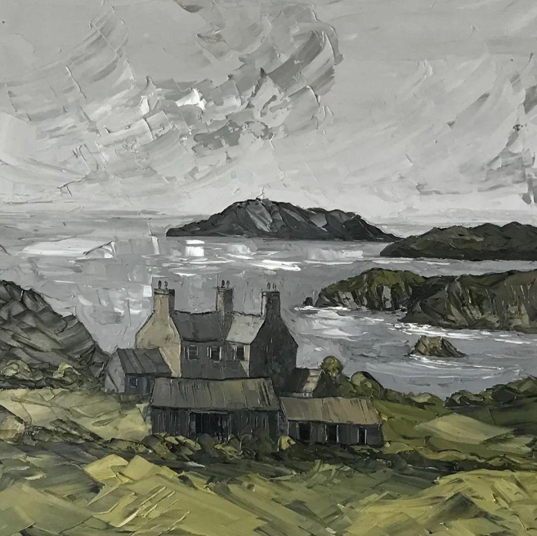 纹理丰富,色调柔和的刀画,英国画家马丁·卢埃林插图119