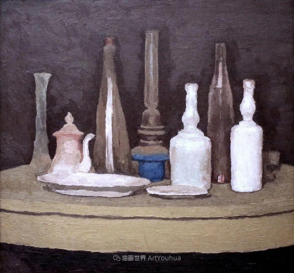 莫兰迪几乎从来不用鲜亮的颜色,把几只瓶子画了一生!插图25