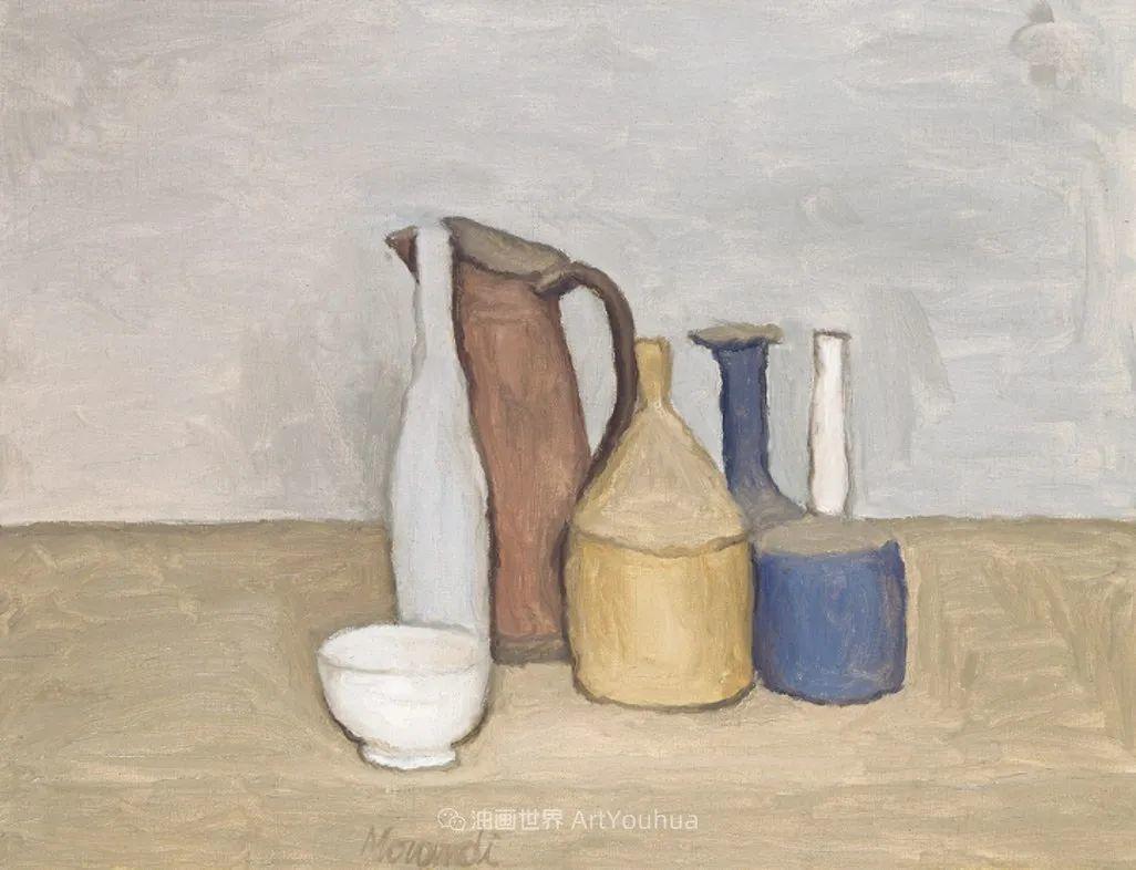 莫兰迪几乎从来不用鲜亮的颜色,把几只瓶子画了一生!插图27