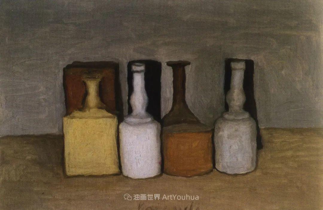 莫兰迪几乎从来不用鲜亮的颜色,把几只瓶子画了一生!插图45