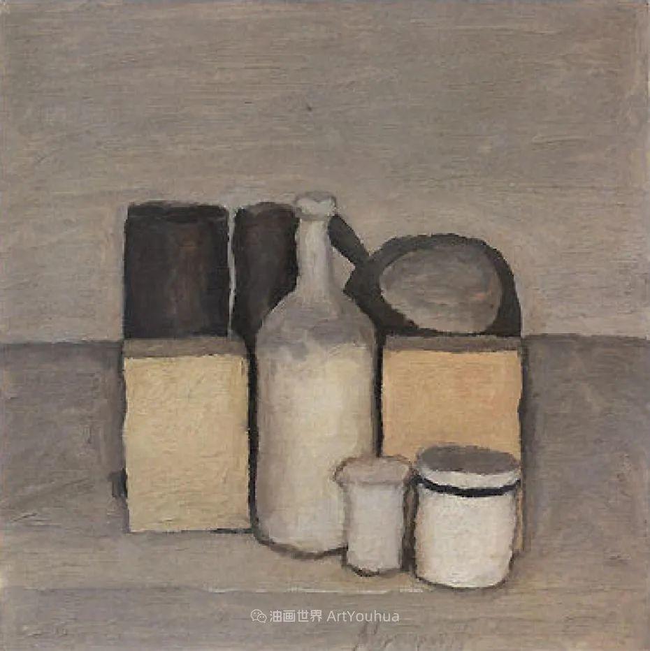 莫兰迪几乎从来不用鲜亮的颜色,把几只瓶子画了一生!插图47